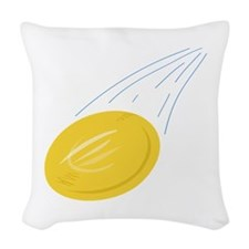 Frisbee Disc Woven Throw Pillow