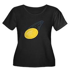 Frisbee Disc Plus Size T-Shirt