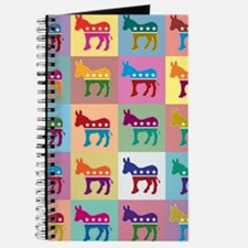 Pop Art Democrat Donkey Logo Journal
