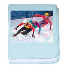Short Track Speed Skaters baby blanket