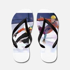 Short Track Speed Skaters Flip Flops