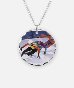 Short Track Speed Skaters Necklace