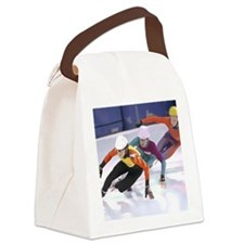 Short Track Speed Skaters Canvas Lunch Bag
