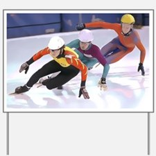 Short Track Speed Skaters Yard Sign