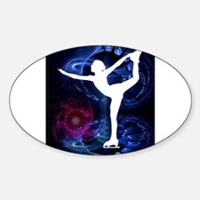 Figure Skater on Technicolor Ice Decal