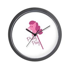 Pretty Pony Wall Clock