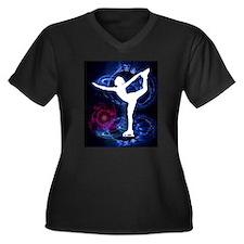 Figure Skater on Technicolor Ice Plus Size T-Shirt