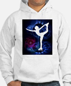 Figure Skater on Technicolor Ice Hoodie