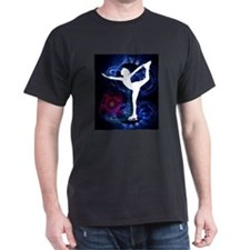 Figure Skater on Technicolor Ice T-Shirt