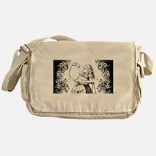 Flamingo Alice Swirls Messenger Bag