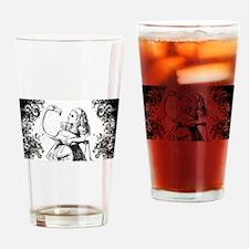 Flamingo Alice Swirls Drinking Glass