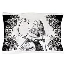Flamingo Alice Swirls Pillow Case
