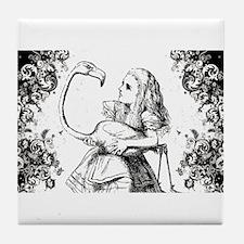 Flamingo Alice Swirls Tile Coaster