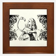 Flamingo Alice Swirls Framed Tile