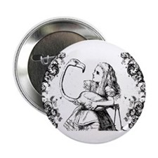 "Flamingo Alice Swirls 2.25"" Button"
