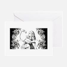 Flamingo Alice Swirls Greeting Card