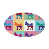 Democrat Oval Car Magnets