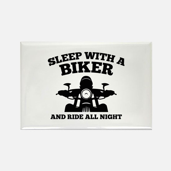 Sleep With A Biker And Ride All Night Rectangle Ma