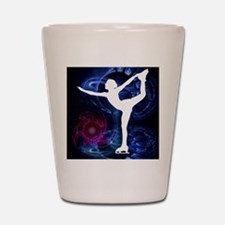 Figure Skater on Technicolor Ice Shot Glass