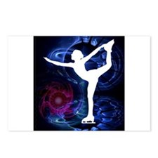 Figure Skater on Technico Postcards (Package of 8)
