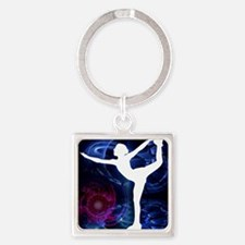 Figure Skater on Technicolor Ice Keychains