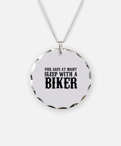 Sleep With A Biker And Ride All Night Necklace