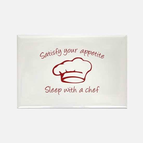 Sleep With A Chef Rectangle Magnet (100 pack)