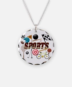 Sports Collage Necklace