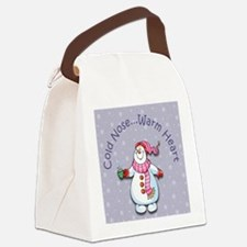 Cold Nose Warm Heart Canvas Lunch Bag