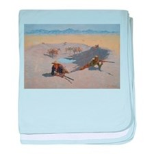 Frederick Remington, Fight for the Wa baby blanket