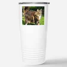norwegian forest cat full tabby Travel Mug