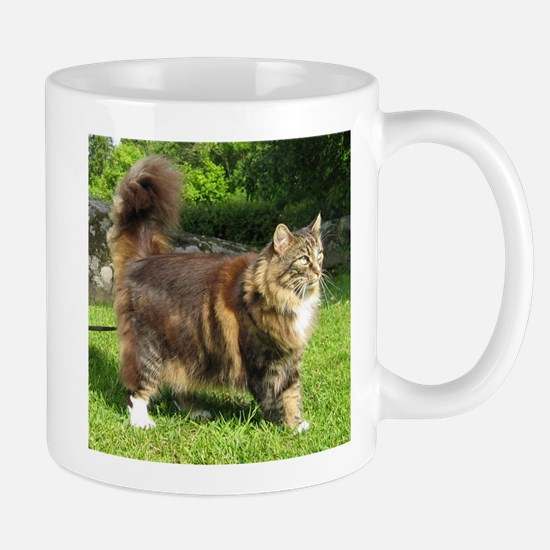 norwegian forest cat full tabby Mugs