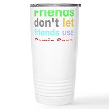 Funny Helvetica Travel Mug