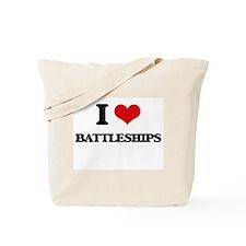 I Love Battleships Tote Bag