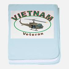 VIETNAM VETERANS CAP baby blanket