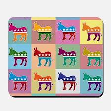 Pop Art Democrat Donkey Logo Mousepad