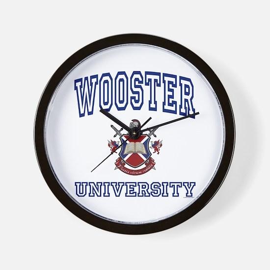 WOOSTER University Wall Clock