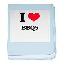 I Love Bbqs baby blanket
