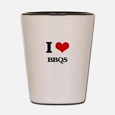 I Love Bbqs Shot Glass