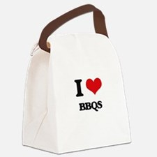 I Love Bbqs Canvas Lunch Bag