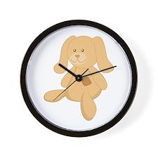 Stuffed Bunny Wall Clock