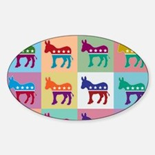 Pop Art Democrat Donkey Logo Decal