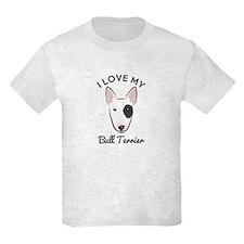I Love My Bull Terrier T-Shirt