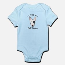 I Love My Bull Terrier Infant Bodysuit