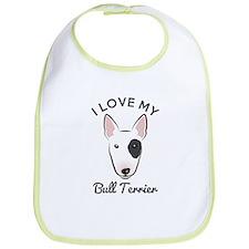 I Love My Bull Terrier Bib