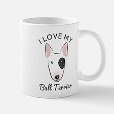 I Love My Bull Terrier Mug Mugs