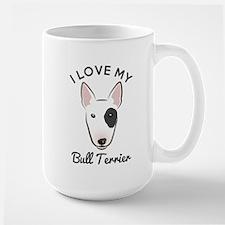 I Love My Bull Terrier MugMugs