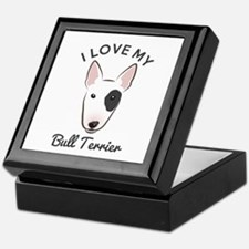 I Love My Bull Terrier Keepsake Box
