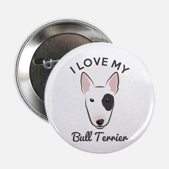 "I Love My Bull Terrier 2.25"" Button (10 pack)"