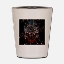 Celtic Skull Gold Space by Bluesax Shot Glass
